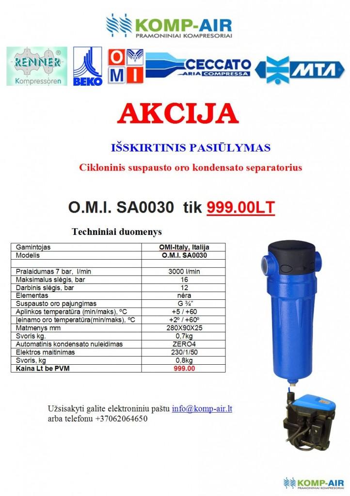 Akcija OMI SA0300